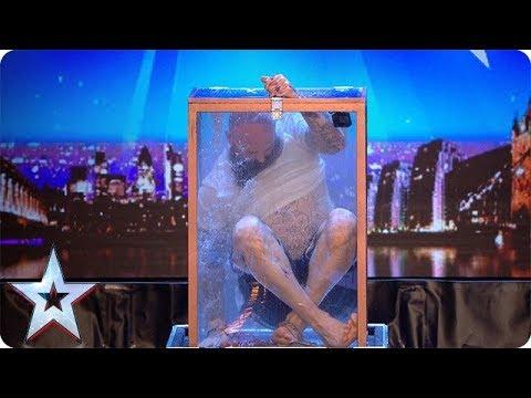 Can handcuffed daredevil escape a locked water tank?! | Britain's Got Talent 2018 (видео)