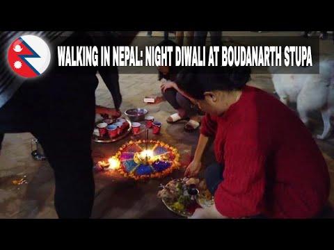 #19 Diwali by night. Kora at Boudha Stupa. Diwali celebrations. (1080p).