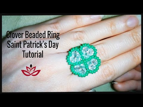 Clover Beaded Ring - Tutorial