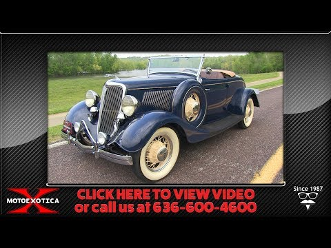 Video of Classic 1934 Ford Roadster - $59,900.00 Offered by MotoeXotica Classic Cars - Q53N