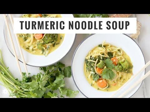 Video Turmeric Noodle Soup | Gluten-Free, Dairy-Free, Plant-Based Easy Recipe | Healthy Grocery Girl