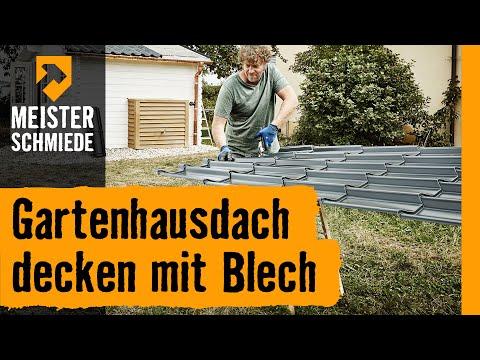 Gartenhausdach decken mit Blech | HORNBACH Meisterschmiede