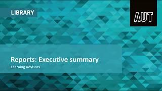 Reports: Executive summary