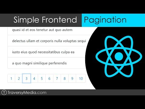 Simple Frontend Pagination | React