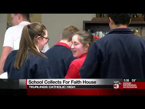 Teurlings collects supplies for Faith House
