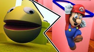 Pacman and Mario crazy adventure