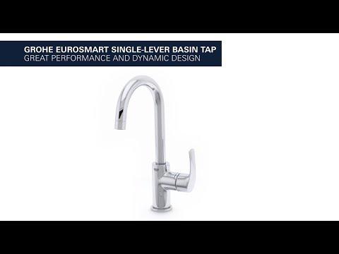 Grohe Eurosmart l-size wastafelkraan met waste chroom