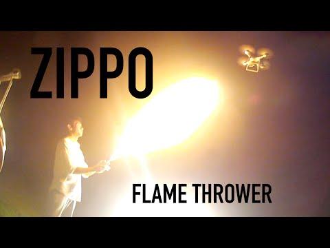Giant Zippo flamethrower