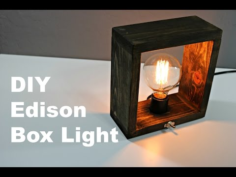 DIY Edison Box Light