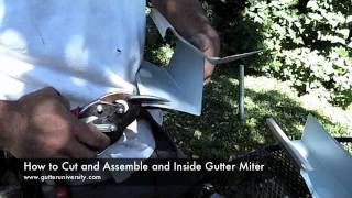 How to cut and assemble an inside gutter miter