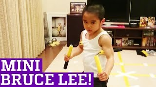 faze tari mini Bruce Lee