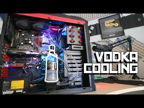 The vodka cooled PC (видео)