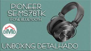 Fone Pioneer Bluetooth SE-MS7BT-K -  Unboxing Detalhado