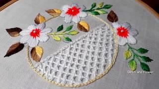 Hand Embroidery Beautiful White Stitch Brazilian Embroidery White Work Embroidery Design