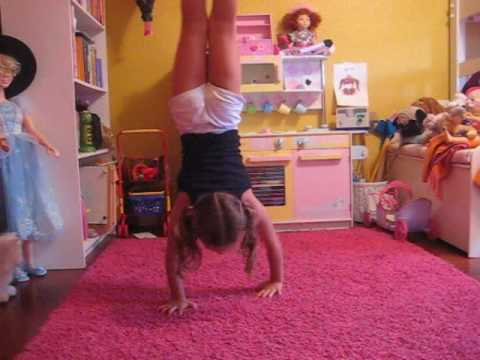 Straddle Presses by Olivia Age 6