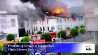 preview picture of video 'Szamotuły pożar meblarni'