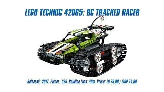 LEGO Technic 42065: RC Tracked Racer Unboxing, Speed Build & Review [4K]