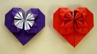 origami herz falten basteln mit papier z b geschenk zum muttertag vidinfo. Black Bedroom Furniture Sets. Home Design Ideas