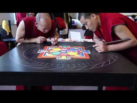 Sand Mandala Carefully Crafted by Tibetan Monks