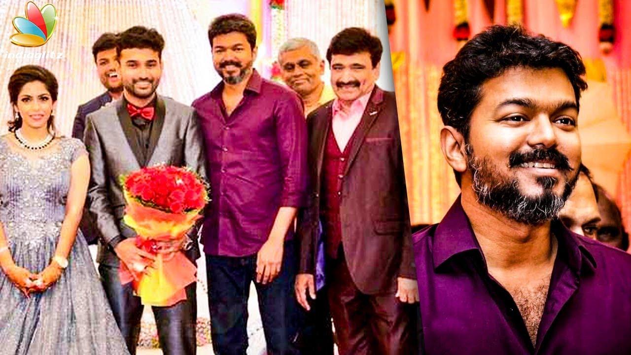Vijay at Ramesh Kanna Son Wedding Reception | Tamil Comedian