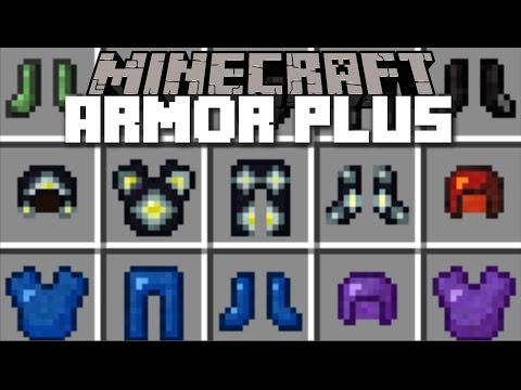 Minecraft ARMOR PLUS MOD / FIGHT YOUR WAY THROUGH ENDER ZOMBIES!! Minecraft