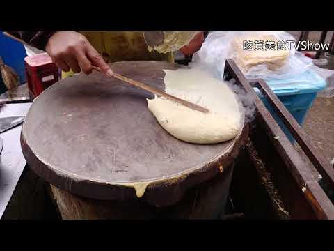 【大陸街頭小吃.南京】南京 浦口區市民廣場 山東雜糧煎餅  Shandong mixed grain pancake