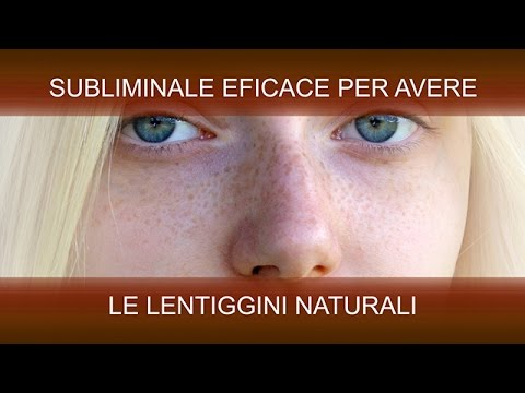 Come fare lentiggini naturali
