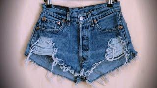 DIY: Как сделать модные рваные шорты / how to make ripped shorts