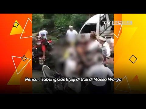 Pencuri Tabung Gas Elpiji di Bali Dimassa Warga