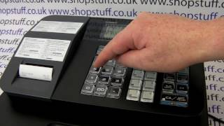 Casio SE-G1 Programming How To Program The Receipt Message On The Printer Paper To Show Shop Name