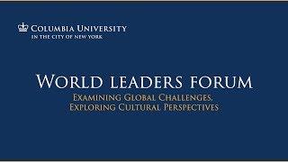 Alexander Van der Bellen, President of Austria, at the Columbia University World Leaders Forum