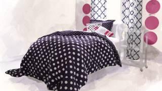 Clementine Cozy Soft Reversible  Comforter Set In Navy