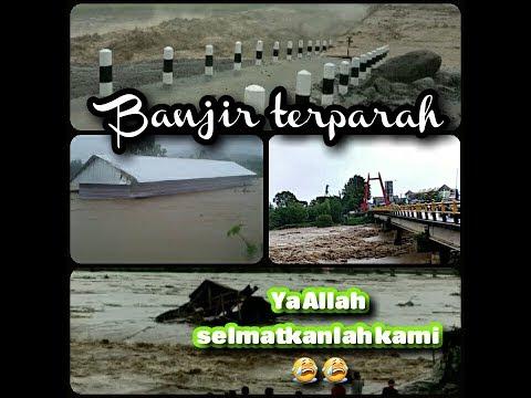 Banjir Terjang Makassar dan 6 Kabupaten di Sulsel || Jembatan dan Sejumlah Rumah Terseret Arus