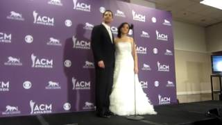 """""""Marry Me"""" Couple Backstage At ACMs"""