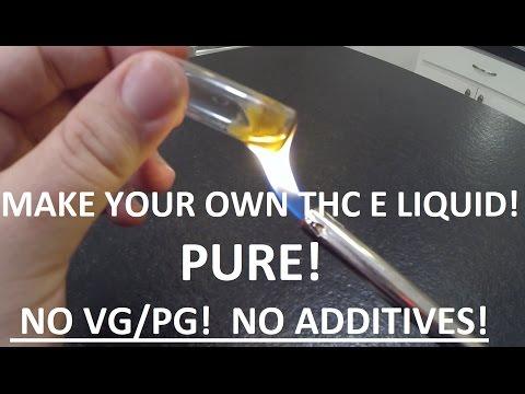 Marijuana E Liquid ADVANCED Tutorial HOW TO MAKE Cannabis E Juice from weed or keif