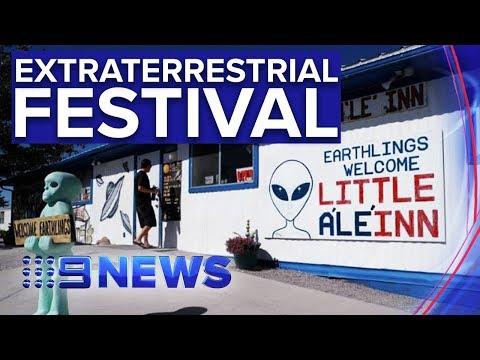 Thousands descend on rural Nevada for 'Area 51 Festival'   Nine News Australia