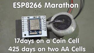 #58 ESP8266 Sensor runs 17 days on a coin cell/transmits data to sparkfun.com and ubidots.com