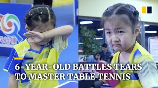 6-year-old battles tears to master table tennis in China