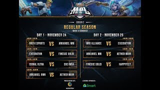 GAME 1 EXCR vs FNS - MPL SEASON 2 - MOBILE LEGENDS - EXECRATION vs FINESSE SOLID