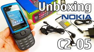 Nokia C2-05 Unboxing 4K with all original accessories RM-724 review