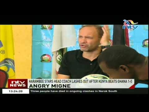Harambee Stars head coach lashes out after Kenya beats Ghana 1-0