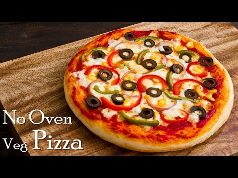 Pizza without Oven   Veg Pizza   Pizza in Kadhai