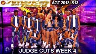 Da Republik Dance Group  Dominican Republic INCREDIBLE America's Got Talent 2018 Judge Cuts 4 AGT