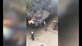 На Уралмаше сгорела ГАЗель