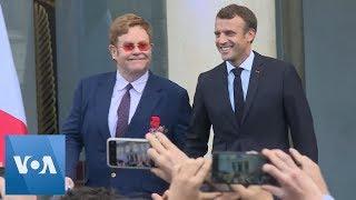 Macron Gives Legion Of Honor To Elton John
