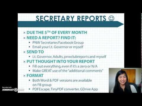 Secretary Training 2015 - Part 1 - YouTube