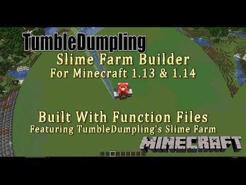 Slime Farm For Minecraft 113 114 Uses Function Files Minecraft