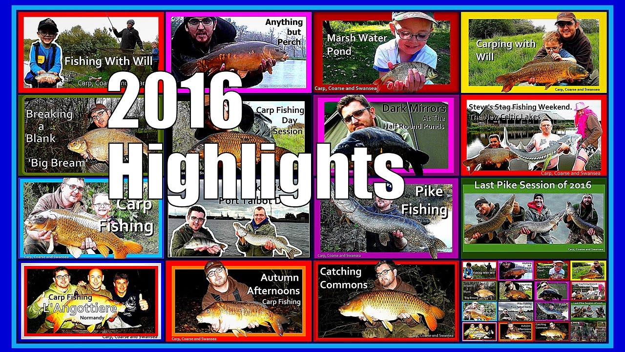 2016 Highlights. Carp Coarse and Swansea Video Blogs
