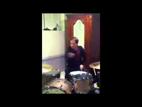 Josh Farro mucking around on Zac's Drums!