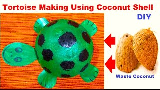 How To Make Tortoise With Coconut Shell And Cardboard